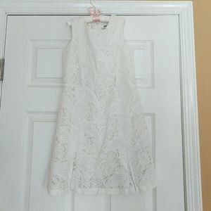 DKNY White Lace Dress